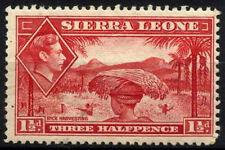 Sierra Leone 1938-44 SG#190, 1.5d Scarlet KGVI Definitive MH #D52443