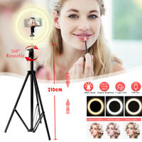 10'' Dimmable LED Ring Light Tripod Stand Phone Holder Selfie Live Youtube Live