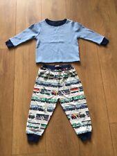 Bnwot Cath Kidston Blue Train Kids Long Sleeve Jersey Pyjamas Age 1-2