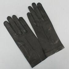 New listing Vintage Black Soft Leather Gloves Handstitched Accent Size 7.5