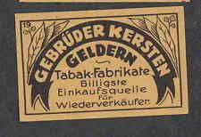 Ancienne étiquette Allumettes  Allemagne   BN1655 Tabac