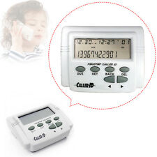 White CID-2008E Caller ID Box + Cable for Mobile Phone FSK/DTMF LCD Display