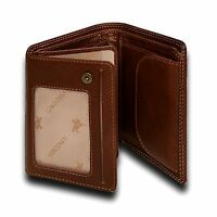 Visconti DRW27 Mens Genuine Leather Trifold Wallet ID Credit Card Holder Oak Gif
