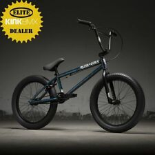 "2019 KINK CURB - COMPLETE BMX BIKE - BMX BICYCLE - 20"" - GLOSS SMOKE STANG TEAL"