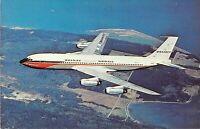 BRANIFF INTERNATIONAL AIRWAYS El Dorado Super Jet BOEING 707 Mint postcard B68