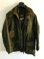 Mens Barbour Beaufort wax jacket Green coat 42in size Large / Extra Large L/XL