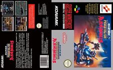 Super Probotector Contra SNES Box Art Case Insert Cover For Universal Game Case