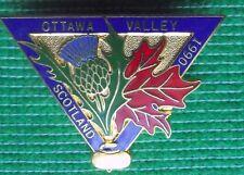Vintage Scottish Curling Club Badge : CANADIAN LADIES Scottish Tour 1970's