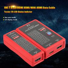 Neuf UNI-T HDMI Testeur de câble pour HDMI MINI-HDMI Connection NF-622 Rouge