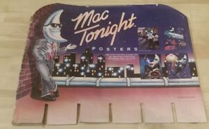 McDonalds Mac Tonight Moon Man 1988 Cardboard Poster Display backing piece