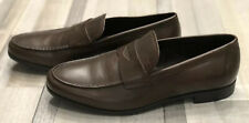 Giorgio Armani Brown Leather Shoes Loafers Size:IT42 - 43,US-UK-9
