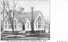 Marshalltown Iowa First Congregational Church Antique Postcard K94004