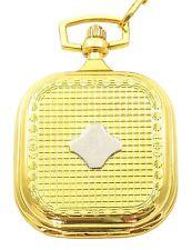 Tavolino Taschenuhr weiß Silber Gold Metall analog Quarz Herrenuhr