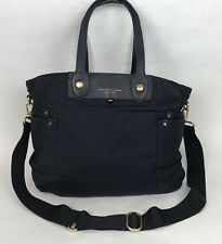 Marc by Marc Jacobs Handbag Navy Blue With Gold Metal Accents Cross Body Strap