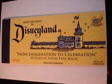 Disney 50th Land Fonte Réplica Admission A-E Billet Livre à partir de 2005