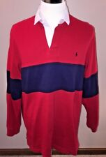 Polo by Ralph Lauren Mens Rugby Shirt Vintage 1980s Size Large