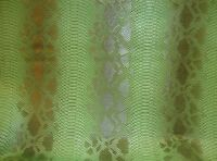 vinyl leather faux upholstery Snake Scale Viper Green Embossed pattern ROLLED