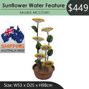 Sunflower Water Feature Water Fountain MCLST481 Australia Wide