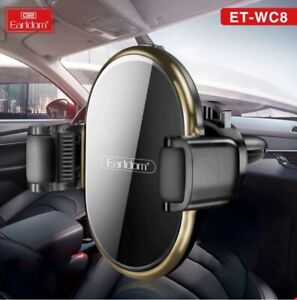 Fast Wireless Car Charger 10W Earldom ET-WC8 360' Full Field Rotate Freely