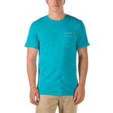 Vans SKY EYE POCKET Mens 100% Cotton Short Sleeve T-Shirt Medium Blue NEW 2018