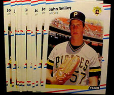 1988 Fleer JOHN SMILEY RC ~ 50 CARDS LOT xxx ACE PITCHER ~ NL WINS LEADER in1991