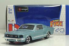 "Bburago 30010 FORD Mustang GT ""Celeste"" - METAL Scala 1:43"