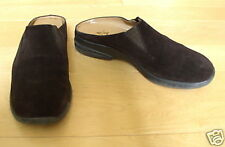 Anne Klein Wms Brown Leather Suede Mules 7