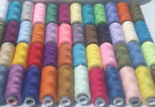 50 Spools  OF ALL PURPOSE POLYESTER THREAD, 50 different Colors