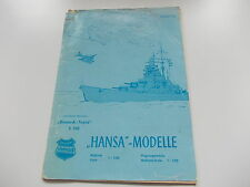 "Schowanek : Bildpreisliste ""Hansa Modelle""   Ausgabe 1/1968, selten! (KAT)"