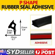3.5M Flexible Hollow Rubber Seal Trim SUV Under Door Edges Protective P Shape