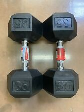 35 lb Dumbbell Pair Weider Hex Rubber 35lb Set - Total 70lbs - FREE SHIPPING Sj