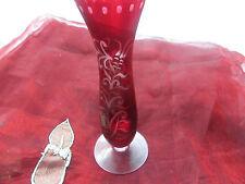 Rote Kristall Vase