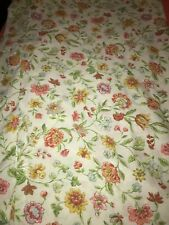 Vintage Pequot Double Full Flat Floral Sheet Flowers Bedding Linens Multi Color