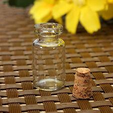 10X 1ml Glas Fläschchen Flaschen mit korken handarbeiten Schmuck Flasche Kl I5P0