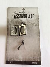 Tim Holtz - Assemblage - Book & Key - (has locket features inside you can fill)