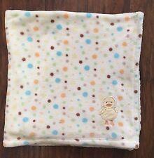 Cutie Pie Unisex Plush Baby Blanket Polka Dots Duck 30 X 30 Boy Girl Lovey