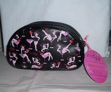FLUFF BLACK CHERRY MARTINI GIRL MAKEUP COSMETIC BAG