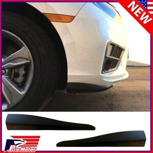 2 x Universal Front Rear Bumper Corner Lip Side Scratch Protector Strap Guard PP