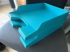Lot de 2 boîtes empilables Herlitz pour documents 34x25 ht 6,5 cm bon état