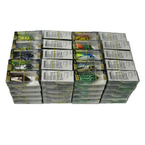 100Pcs Rubber Frog Fishing Lures Soft Float Bait 6cm/2.3'' With Retail Box