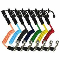 Elastic Safety Paddle Leash for Kayak Canoe Boat Fishing Rod Coiled Lanyard Cord