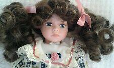 Christina Collection Timeless Treasures Porcelain Doll Brunette hair