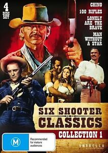 Six Shooter Classic Westerns Collection Volume 1 DVD, 4-DISC - R4 New FREE POST