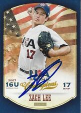 Zach Lee Los Angeles Dodgers 2013 Panini USA Signed Card #55