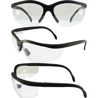 BLUE MOON SAFETY GLASSES SUNGLASSES GLOBAL VISION CLEAR LENS ANSI Z87.1+