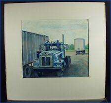 "PASTEL PAINTING TRUCKS, ""DIAMOND REO"" BY ROBERT KARSTEN, YORK, PA."
