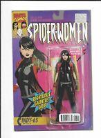 Spider-Woman Omega #1 Action Figure Var Marvel Comic 1st Print 2016 Unread NM