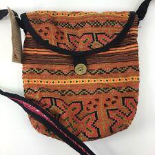 Kathmandu Imports Boho Hippie Purse Cross Stitch Patchwork Crossbody New