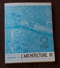 1956 L'Architecture III édifices religieuses Culturels Gutton