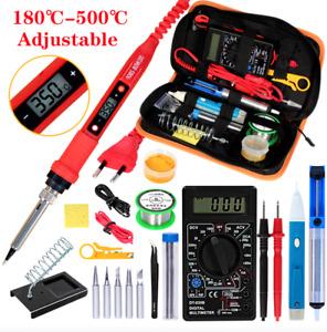 Soldering iron kits 80W 220V Adjustable Temperature Digital Multimeter